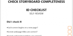 Free Storyboard Completeness Checklist