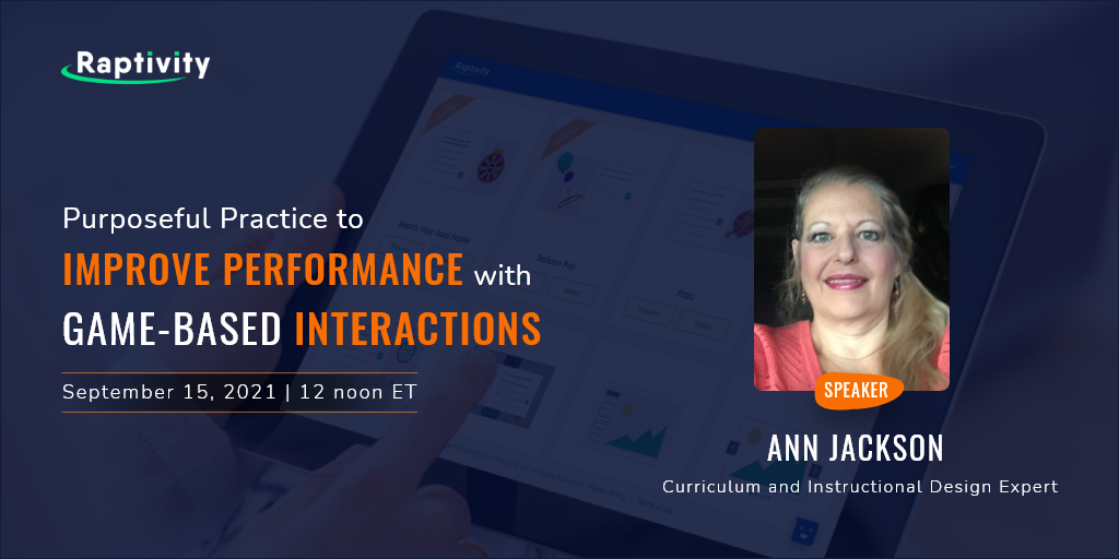 Purposeful Practice to Improve Performance with Game-based Interactions